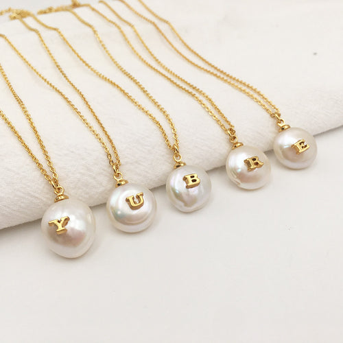 Pearl ABC Gold Necklace