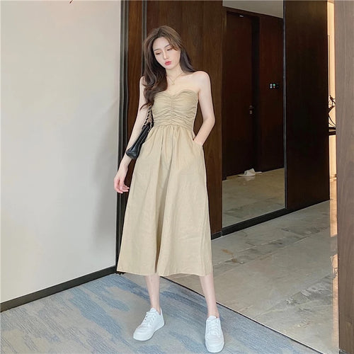 Lucca Tube Dress Khaki