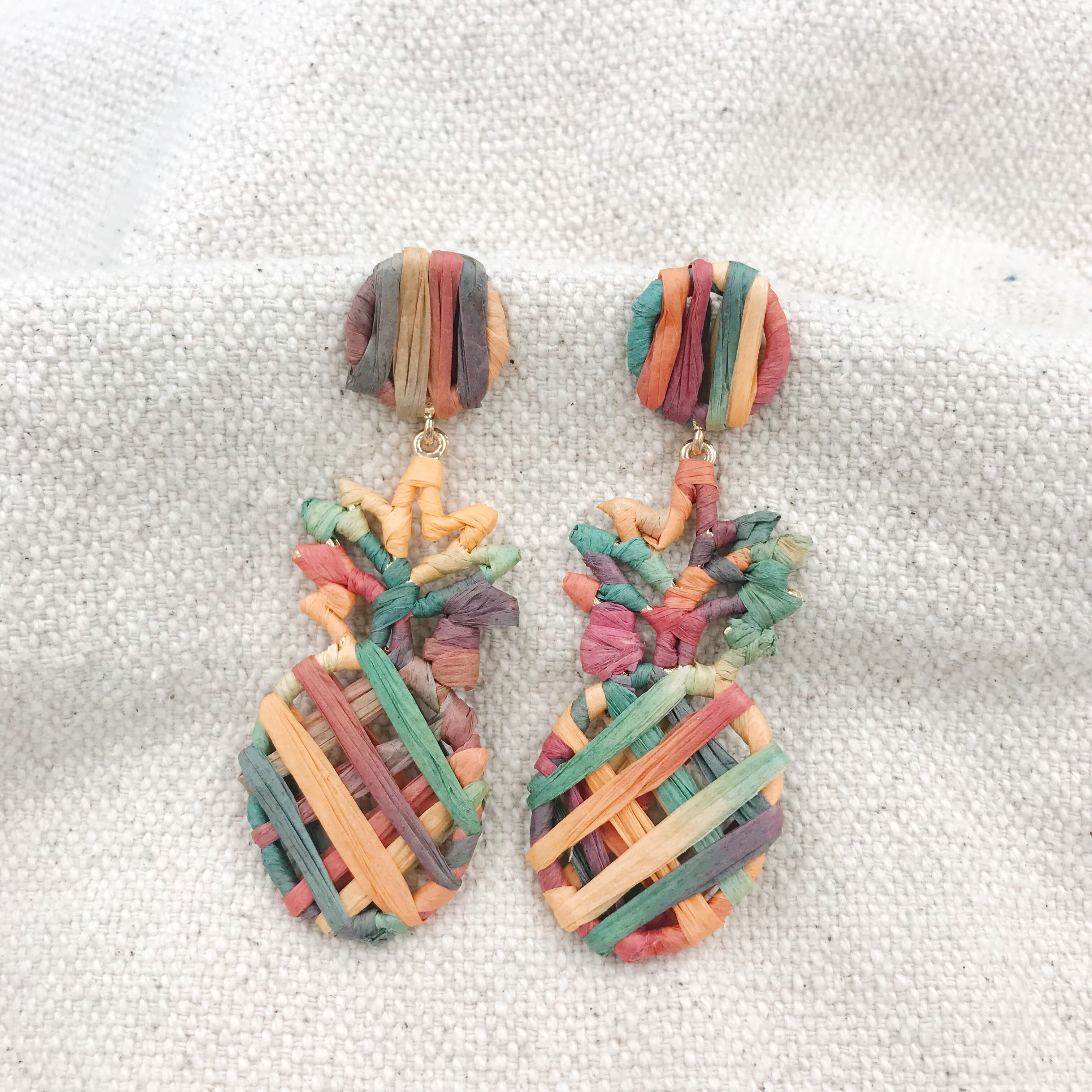 Piña Earrings (yellow)
