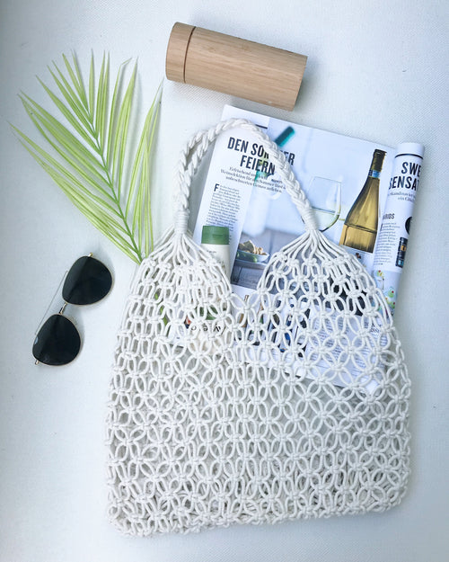 Paige Woven Rope Bag