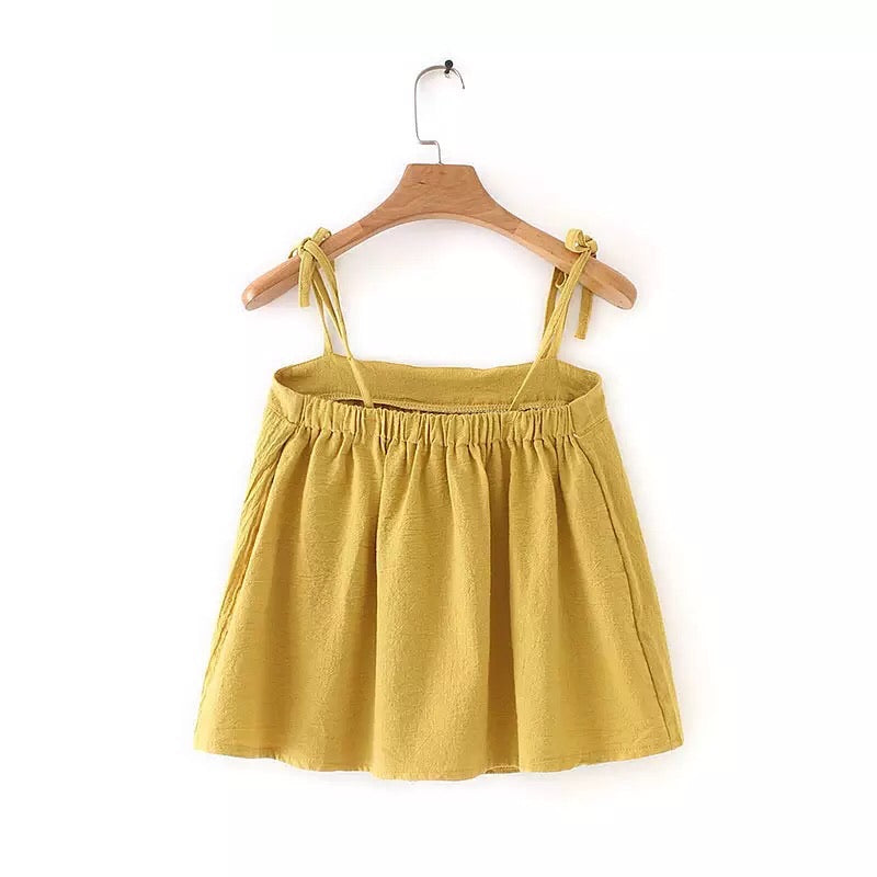Zeri String Top Yellow