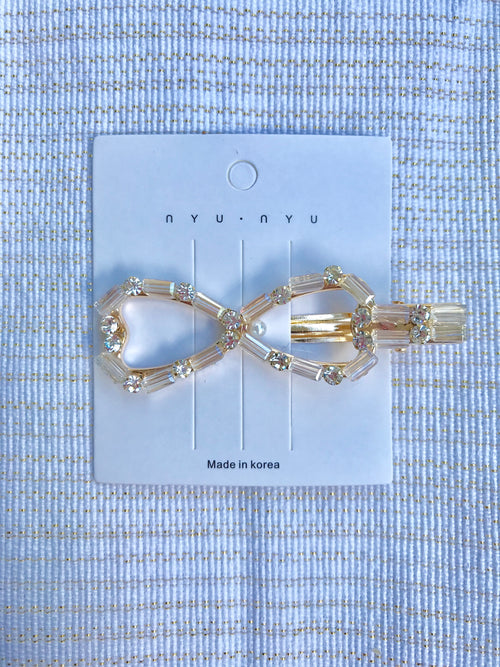 Agnes Bow Barrette (Clear)
