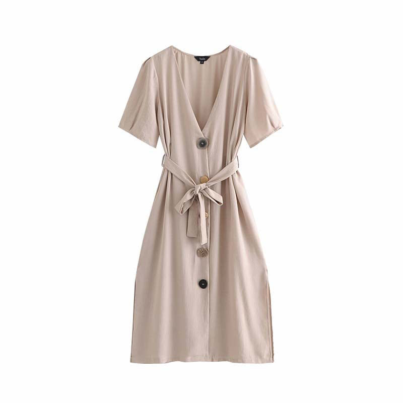 Becca Button Dress