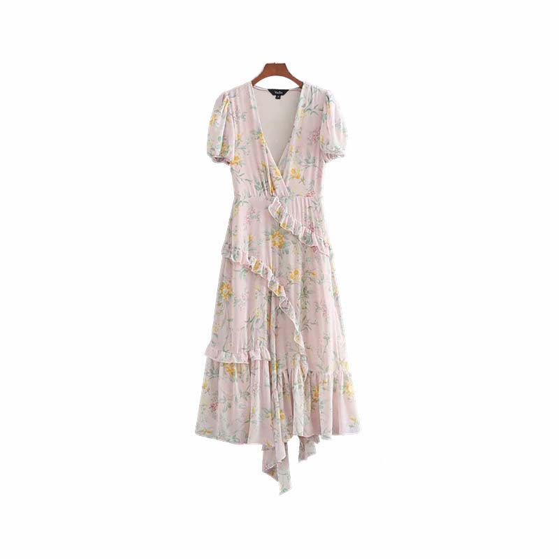 Sierra Floral Chiffon Maxi Dress