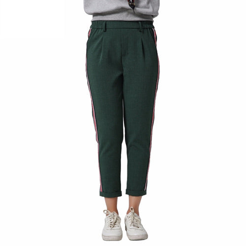 Kimmie Side Stripe Pants Green