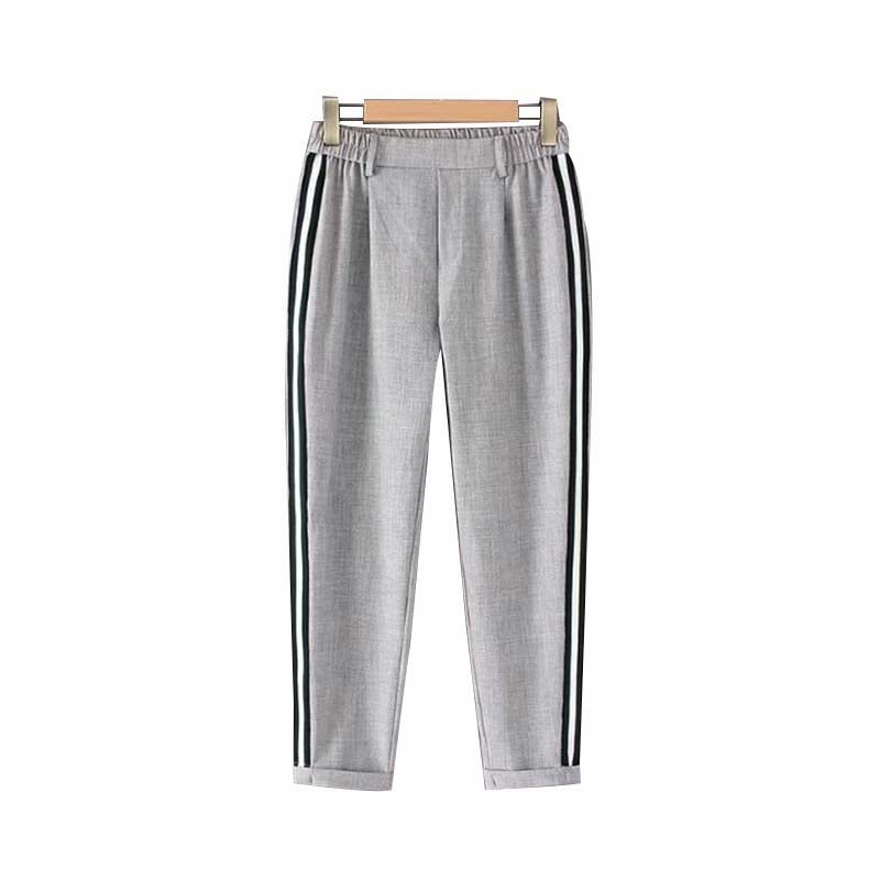 Kimmie Side Stripe Pants Gray