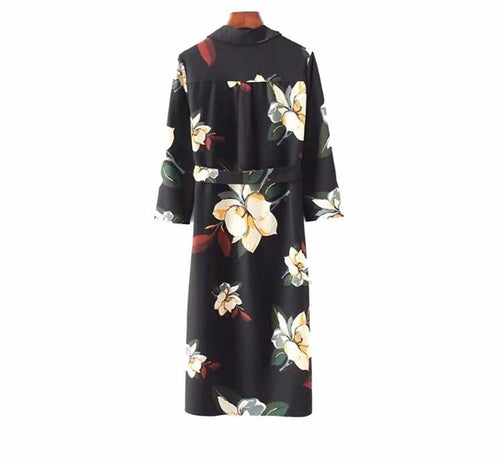 Salamanca V neck Floral Sash Dress