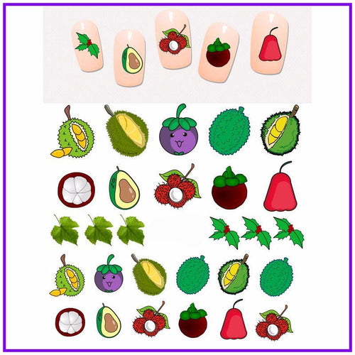 Durian Nail Art Stickers
