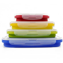 Collapsible Silicone Fruit Storage Container With Plastic Lid