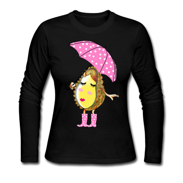 Lady Durian Women Casual Cotton Long Sleeve