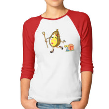 Lady Durian w/ Gary Women Casual Cotton 3/4 Raglan Sleeve