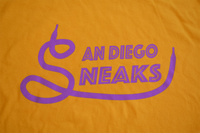 The First Logo Tee in Purple & Gold