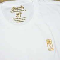 The Gold Luxe Embroidered Tee