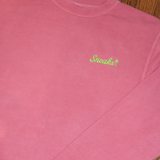 The Rich Embroidered Script Crewneck