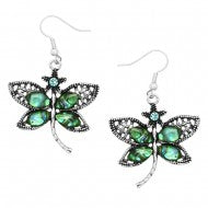 Dragonfly Abalone Earring
