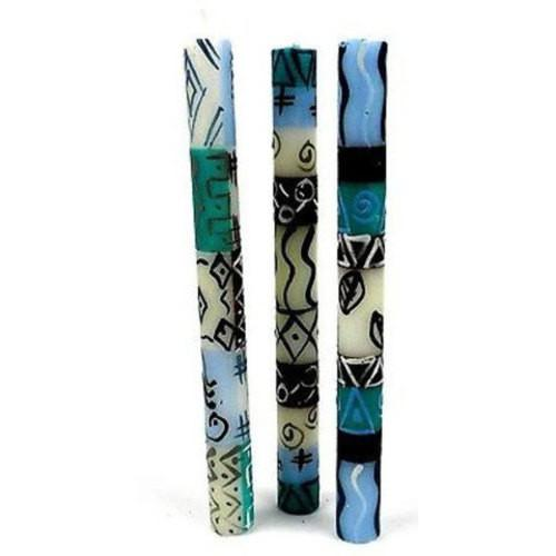 Set of Three Boxed Tall Hand-Painted Candles - Maji Design Handmade and Fair Trade