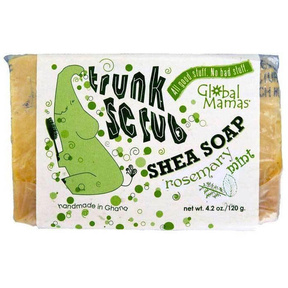 Trunk Scrub Shea Soap - Rosemary Mint - Global Mamas (S)