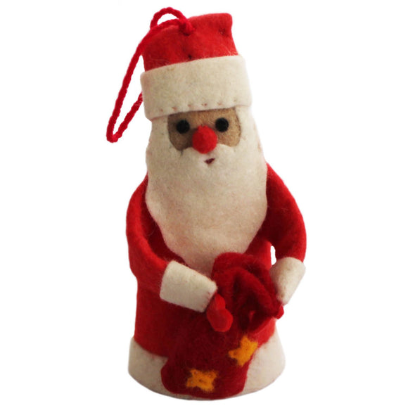 Santa Felt Holiday Ornament - Silk Road Bazaar (O)