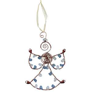 Beaded Blue Angel Ornament - Global Mamas (H)