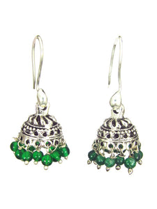 Oxidized Earrings - Green