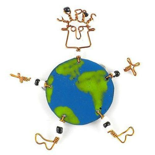 Dancing Girl World Pin Handmade and Fair Trade