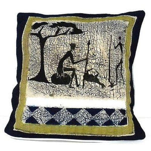 Handmade Hunting Batik Cushion Cover Handmade and Fair Trade