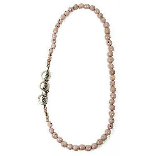 Circle Chain Necklace in Sugar Pink Handmade and Fair Trade