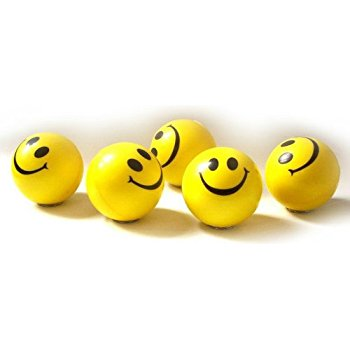 Toy Cubby Smiley Face Stress Ball, Yellow