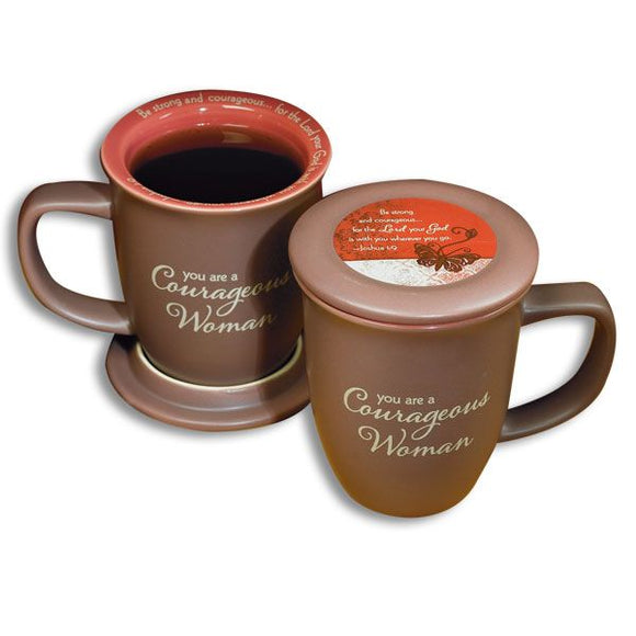 Courageous Woman Mug and Coaster Set