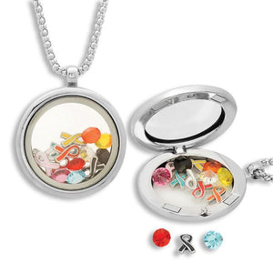 Multi-Ribbon Locket with Charms