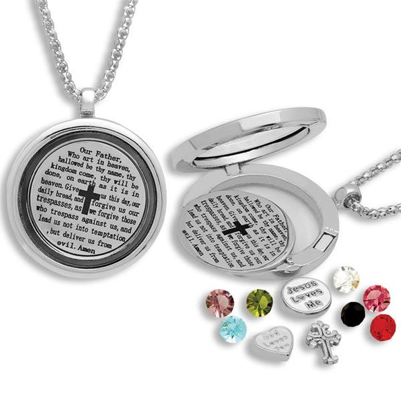 Lord's Prayer Charm Locket