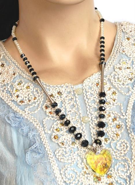 Heart Beaded Necklace
