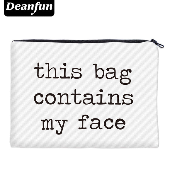 Deanfun Cosmetic Bags 3D Printed Letter Simple Women Makeup Organizer Travelling 85001