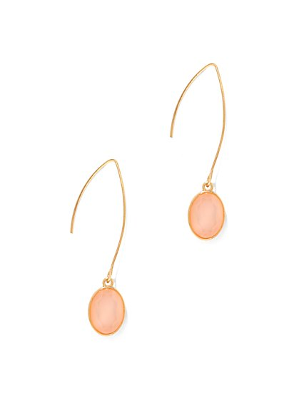 Faceted Faux-Stone Drop Earring
