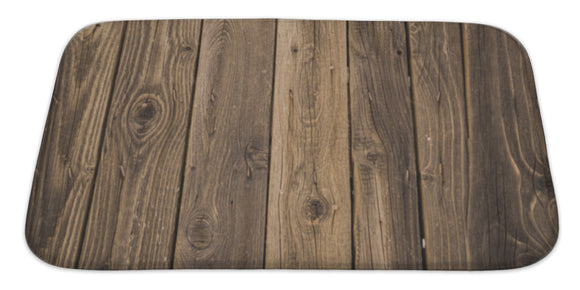 Wood Bath Mat Rug, Microfiber Memory Foam with no skid back, 34