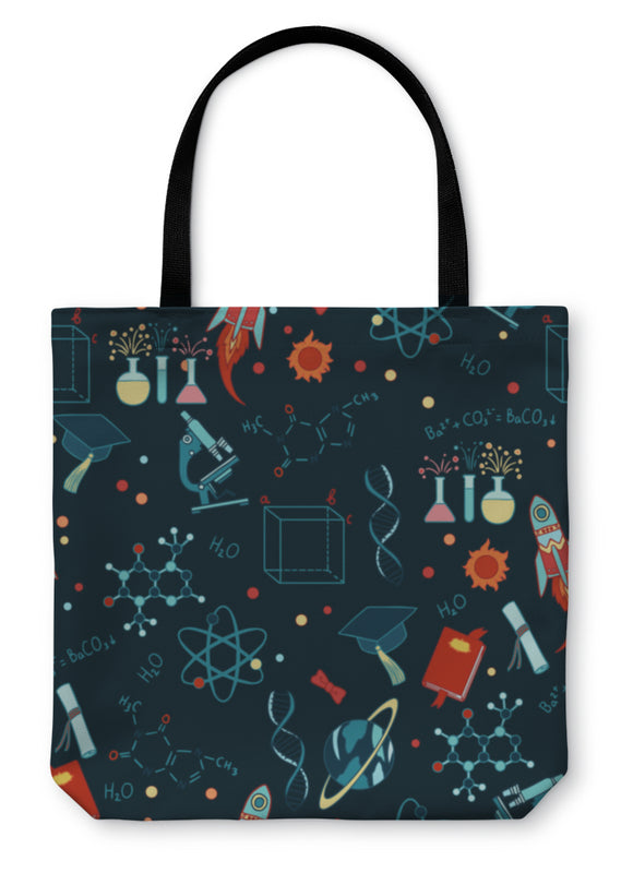 Tote Bag, Science Stuff Pattern
