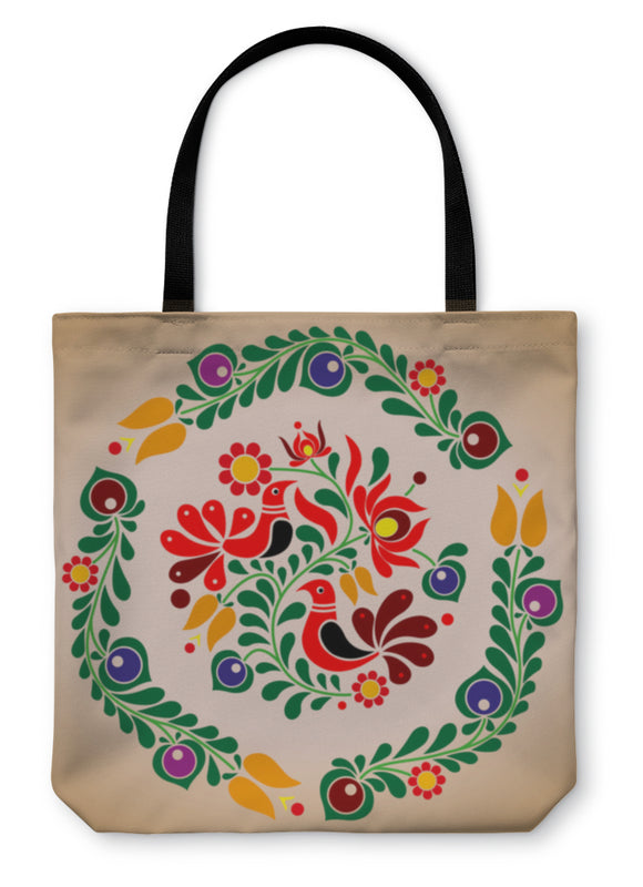 Tote Bag, Hungarian Kalocsai Ornament