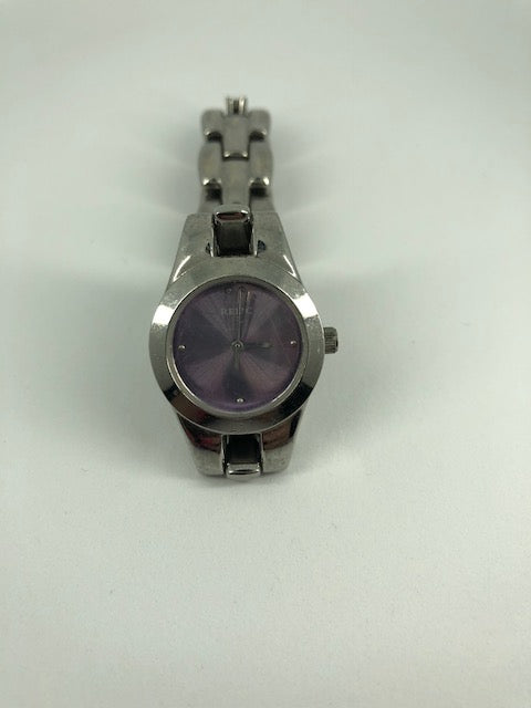 Relic Silver Purple Face Women's Watch (used)