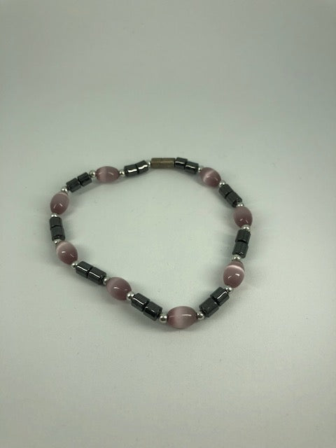 Silver Purple Beaded Bracelet (used)