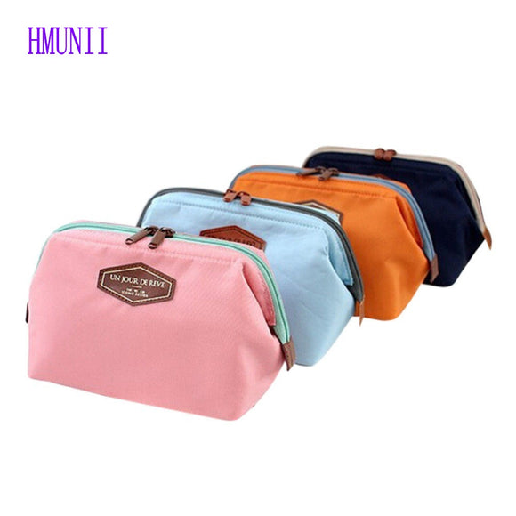 New Fashion Women Cosmetic  Travel Kit Organizer Makeup Bag Lady Small Zipper  Cosmetic Bag