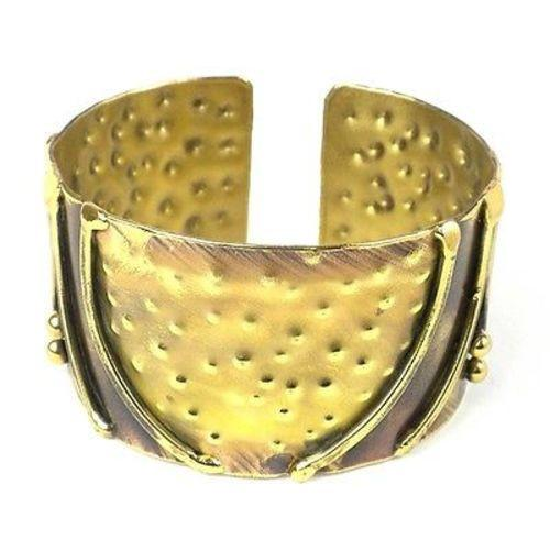 Handcrafted Arches Brass Cuff Handmade and Fair Trade