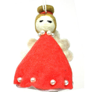 Felt Magic Fairy Ornament - Red - Silk Road Bazaar (O)