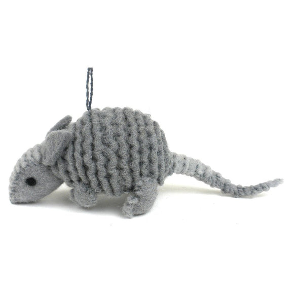 Armadillo Felt Ornament - Silk Road Bazaar (O)
