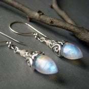 Sterling Silver Long Earring Moonstone