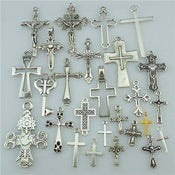 Alloy Religion Varies Cross shapes Silver Findings Pendant