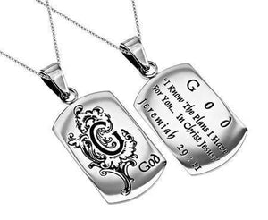 'I Know' - Women's Dog Tag Necklace