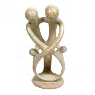 Soapstone Family 2 Parents 2 Children 8 inch