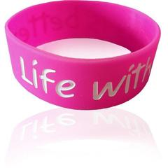 Life with Jesus is better - Pink Gel Band