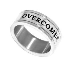 Overcomer  Silver Channel Ring - Unisex