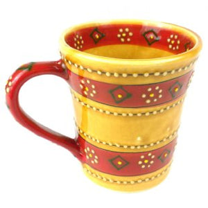 Hand Painted Flared Cup - Honey